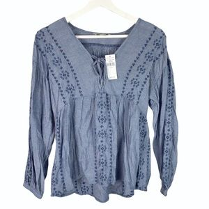 American Eagle Eyelet Lace Embroidered Blouse XS
